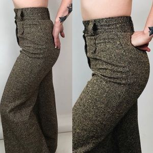 IDEAL VTG 70s WOOL TROUSERS
